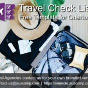 #Travel agencies promote this free #Travel #Checklist for #OneNote to your customers.