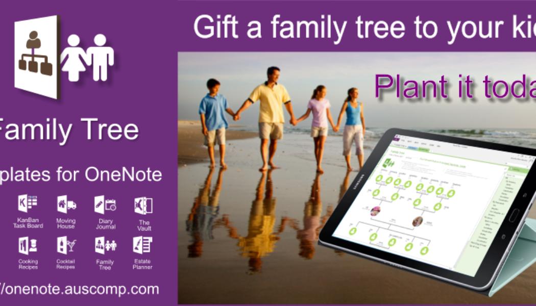 "Free MS #OneNote ""Family Tree"" #template. It's free so please retweet."