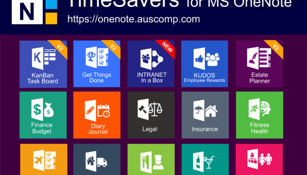 Collection of free of Free & Pro MS OneNote templates. KanBan, GTD, Planners, Teams, Estate Planner & Projects.