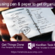Replace pen and paper with this KanBan Task Board & GTD template for OneNote.