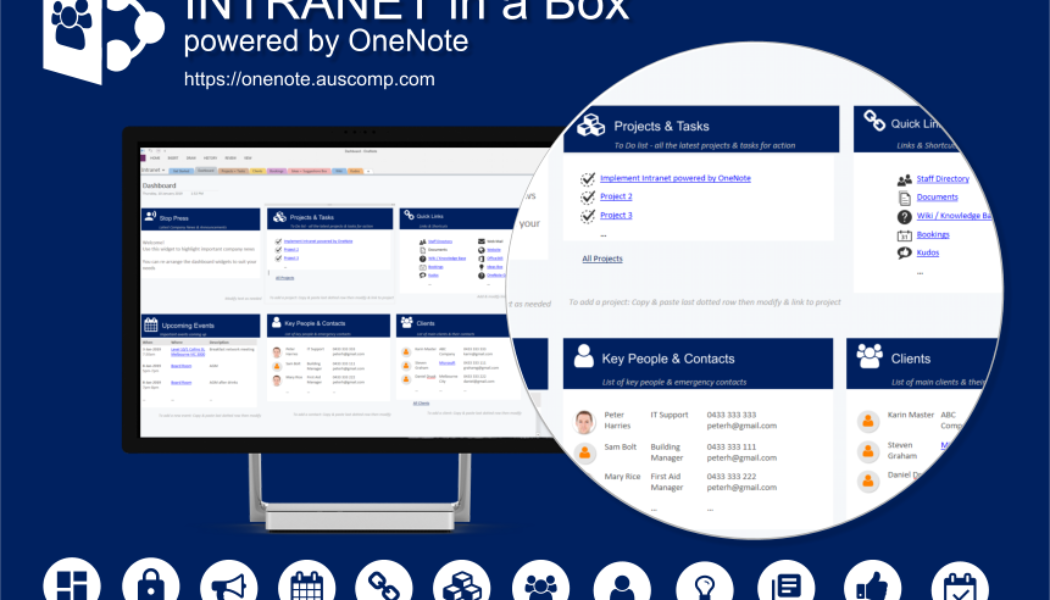 A secure cloud based – Digital information hub powered by OneNote. Please RT.