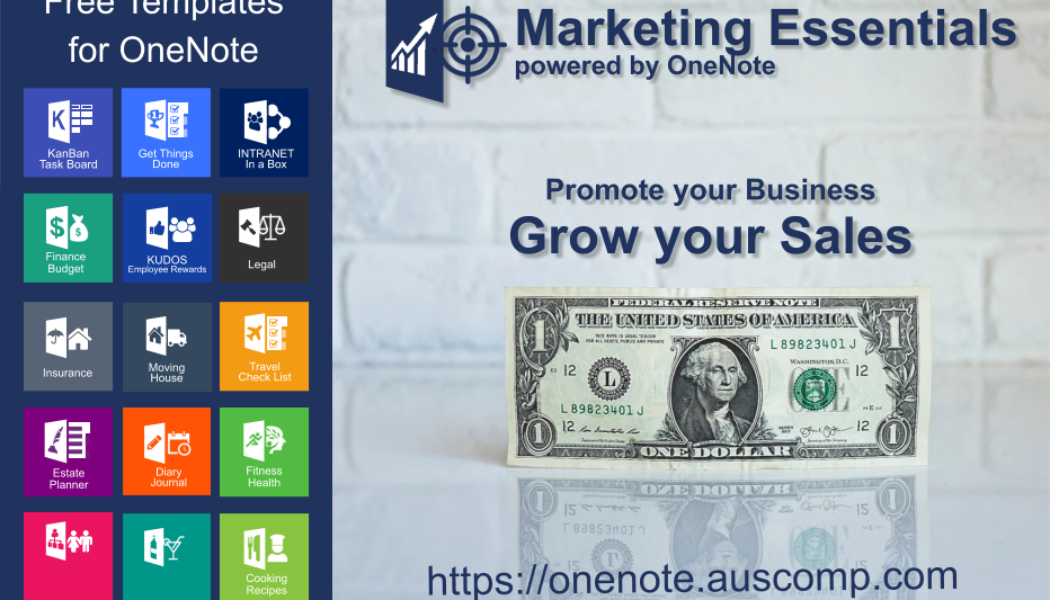 Marketing Essentials powered by OneNote. Promote your Business & Grow your Sales. Please RT.
