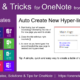 Tips and Tricks for OneNote users: Auto-create new hyper-linked pages with this simple trick.