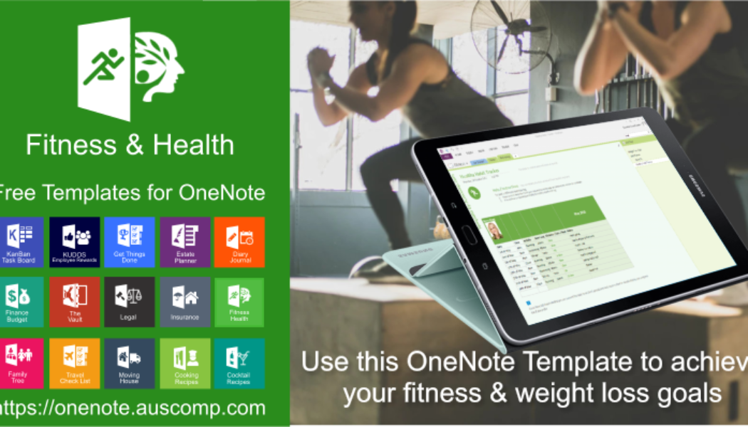 """MS #OneNote """"Fitness / Health"""" #template. To help get your fitness underway!"""