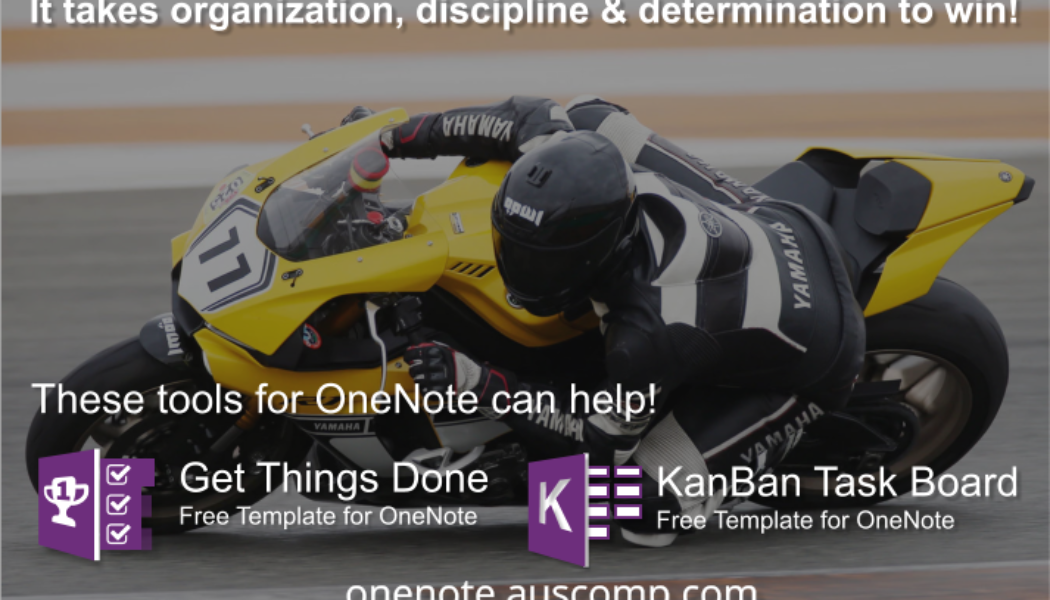 Use these KanBan Task Board and Get Things Done templates for OneNote to get you started.
