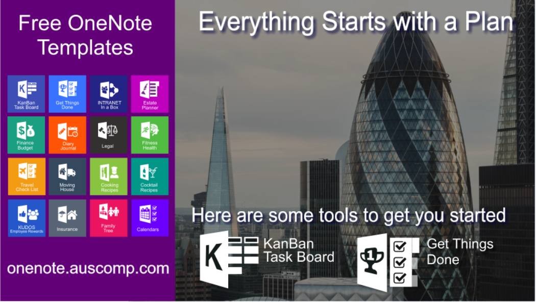 Take the leap! Use these KanBan & GTD templates for OneNote to get you started.