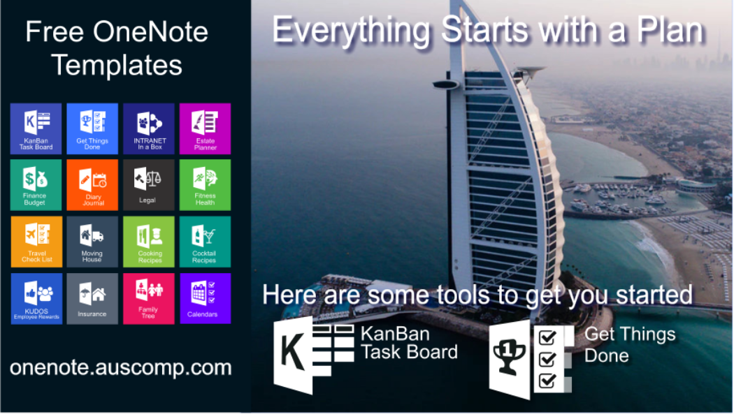 Take the leap! Use KanBan Task Board and Get Things Done templates for OneNote to get you started.