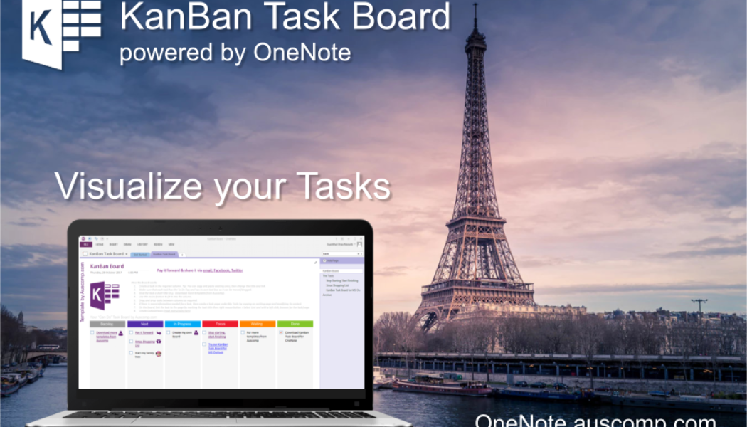 Organize your Tasks and Get Things Done with these KanBan Board and GTD Templates for MS OneNote