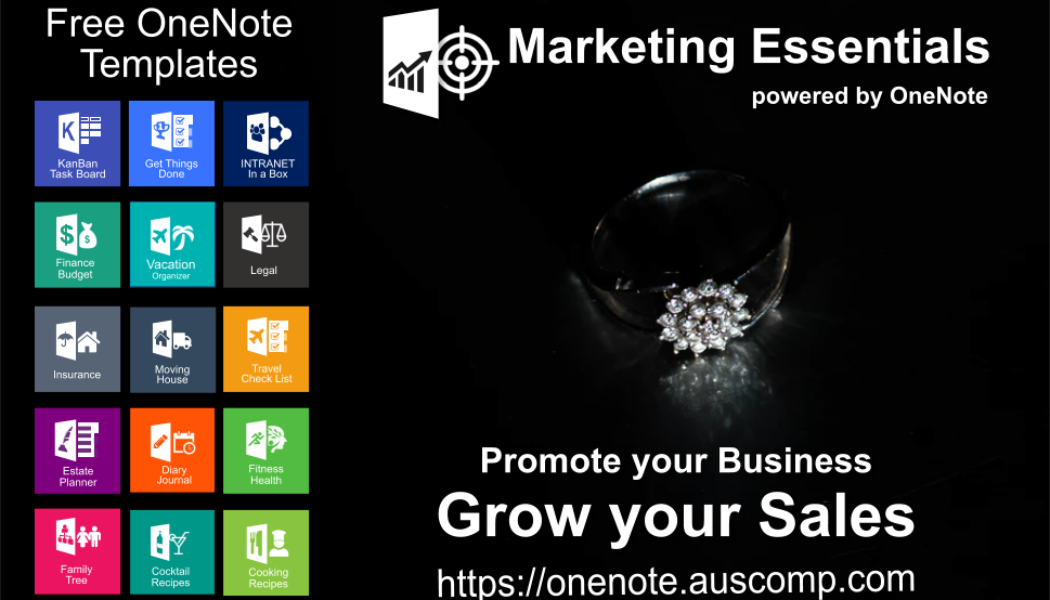 Marketing Essentials powered by OneNote. Promote your Business & Grow your Sales.