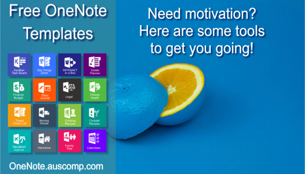 Medley of Free & Pro MS OneNote templates. KanBan, GTD, Planners, Teams, Projects, Estate Planner.
