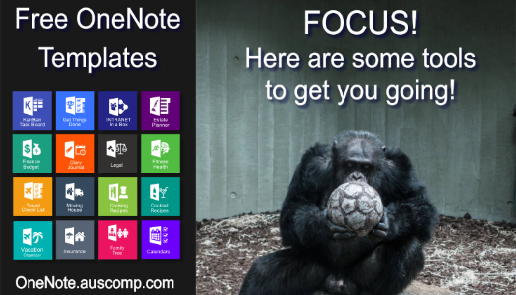 Medley of Free & Pro MS OneNote templates. KanBan, GTD, Planners, Teams, Estate Planner & Projects.