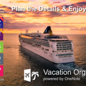 Vacation Organizer for OneNote. Plan the Details & Enjoy the Rest! Please RT