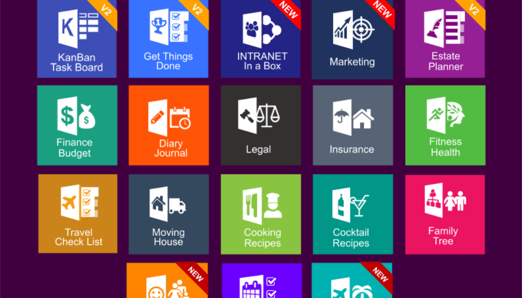 Medley of Free & Pro MS OneNote templates. KanBan, GTD, Planners, Teams, Projects, Estate Planner & Wiki.