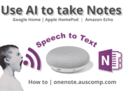 Use AI to take notes in OneNote