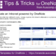 Tips and Tricks for OneNote users: Create an Intranet powered by OneNote. Please share.