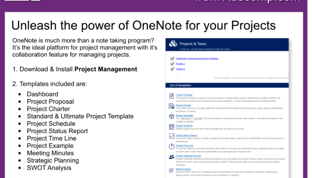Tips and Tricks for OneNote users: Unleash the power of OneNote for your Projects. Please share.