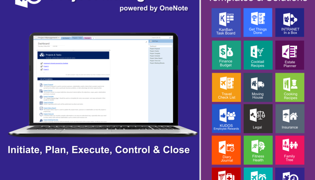 Unleash the power of OneNote for your Projects.