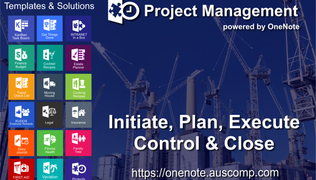 Unleash the power of OneNote for your Projects. Please Share.