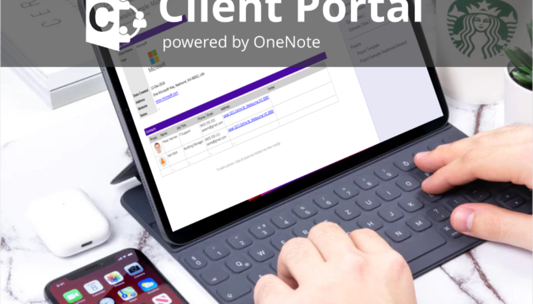Exchange documents in a secure way with a Client Portal powered by OneNote!