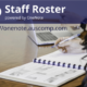 Staff Rostering & Attendance powered by OneNote. Simple & Intuitive!