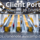 Client Portal powered by OneNote.