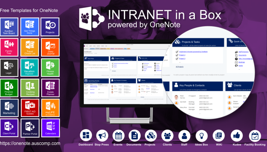 Using Office365 for Work and don't have an Intranet? Here is one powered by OneNote. Please RT.