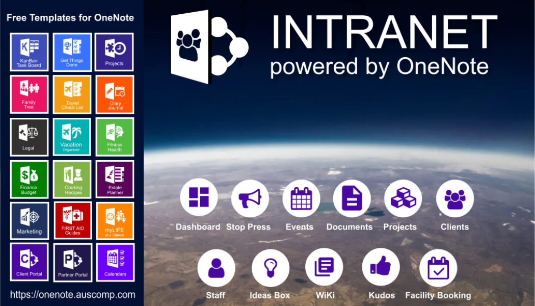 Using Office365 for Work and don't have an Intranet? Here's one powered by OneNote. Please RT.