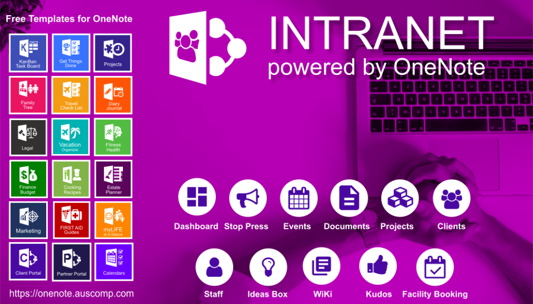 Intranet for Office365 and OneNote. Quick, Simple, Secure & Affordable. Unleash the Power of OneNote.