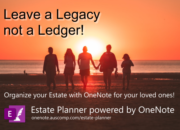 Use OneNote to leave a legacy not a ledger