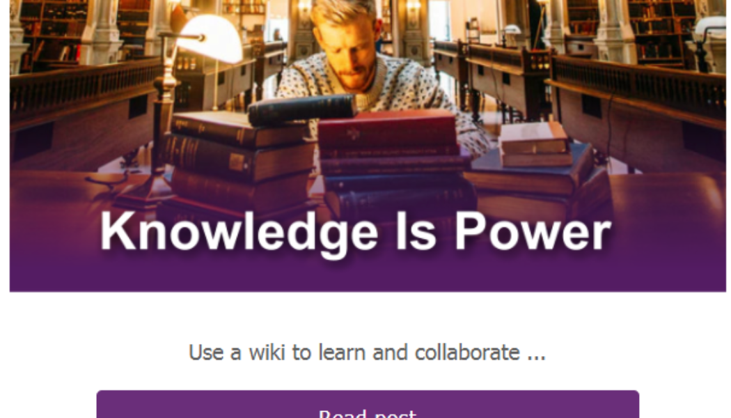 Create a Wiki in OneNote – Tip of the Week