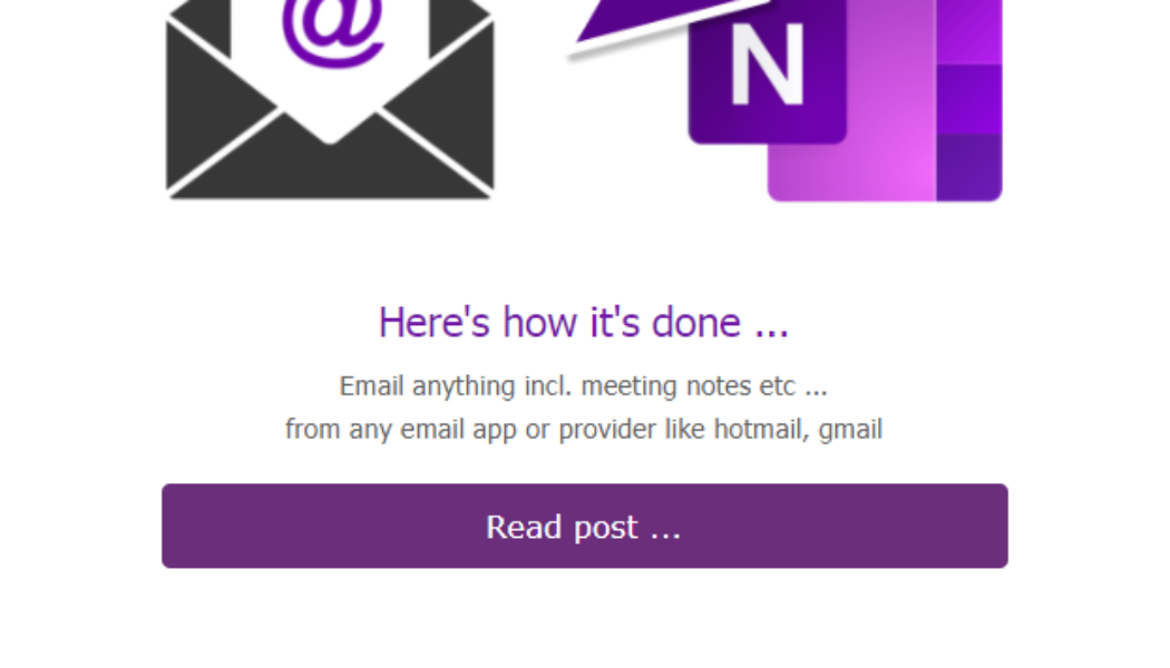 How to email information to your OneNote